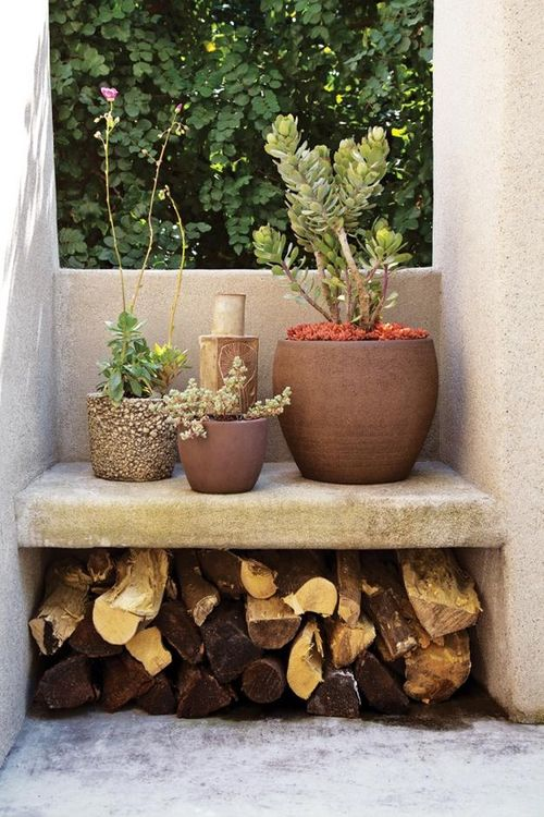 patio wood storage idea