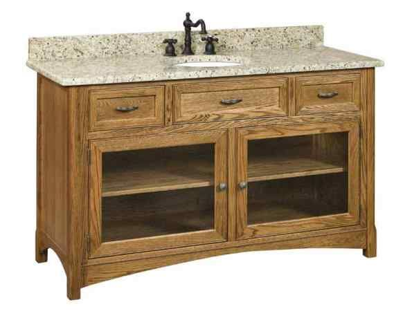 Cv Amish Vanities Sl Wllv60g Vanities And Bath Cabinetry Illinois Amish Crafted Furniture Amish Furniture 60 Vanity Amish Crafts
