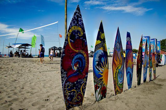 Skim Board Painting Contest Urbiztondo Beach San Juan La