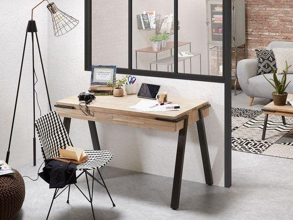 15 escritorios para inspirarte escritorio sencillo - Escritorio estilo industrial ...