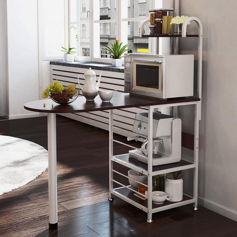 Kitchen Island Table Kitchen Cart Baker Storage Shelves ...