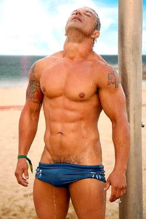 Sexy Speedo Bulge On A Hot Wet Stud