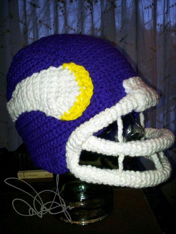 Crochet Minnesota Vikings Helmet Hat | Things I Make | Pinterest