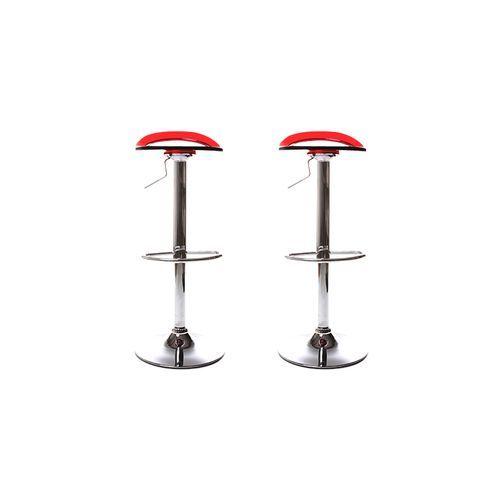 pour acheter votre lot de 2 tabourets de bar plasse rouge oui par 2 pas cher et au meilleur. Black Bedroom Furniture Sets. Home Design Ideas