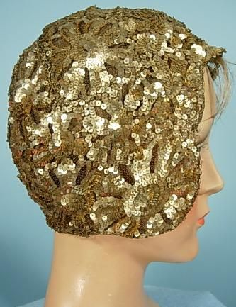 Hat  1920s  Antique Dress    Evening cloche - I have a few like this, beaded or sequined.