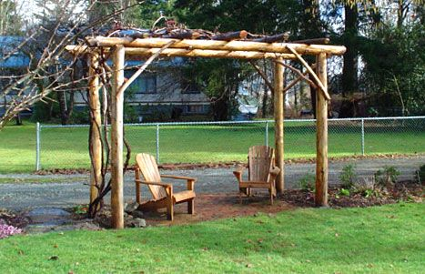 I've been wanting a grape arbor to lead into the garden for a long