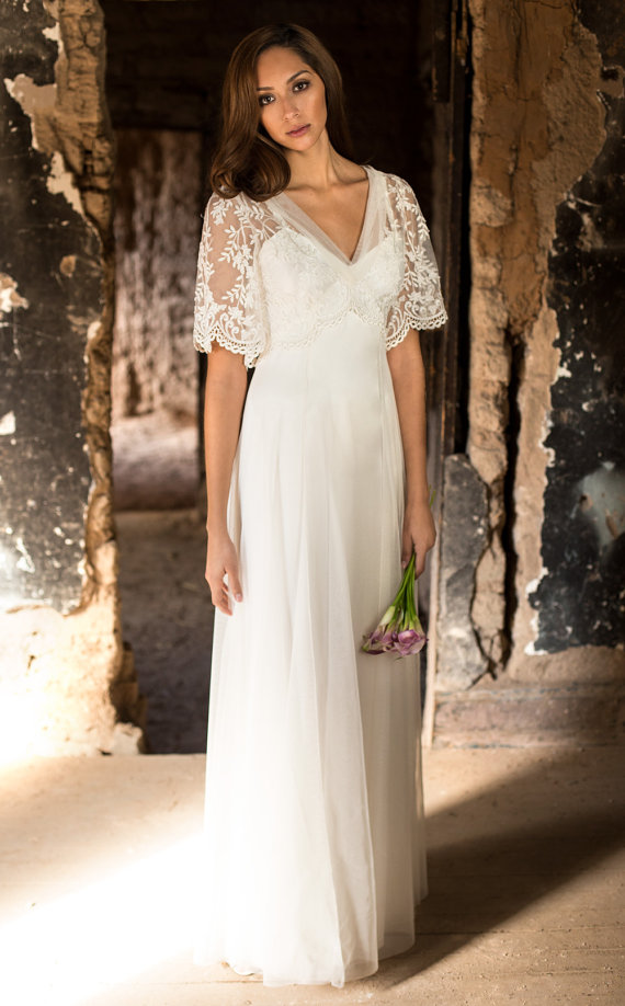 Boho Vintage Wedding Dress By Martinmccreacouture