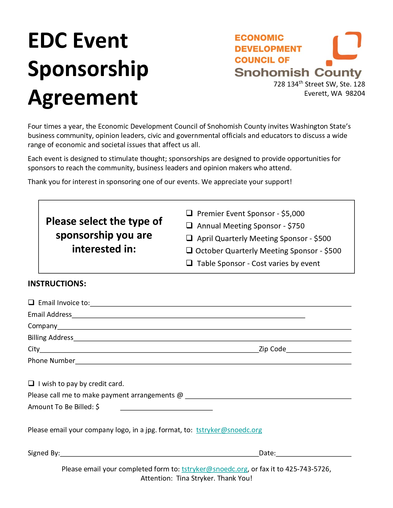 event sponsorship agreement template 28 images the | News to Go 2 ...
