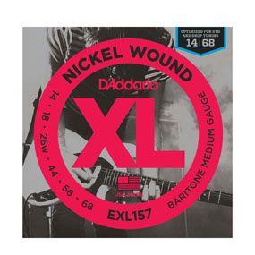 D Addario Strings Xl Nickel Round Wound Exl157 Nickel Wound Baritone Medium 014 068 Electric Guitar Strings D Addario Acoustic Guitar Strings