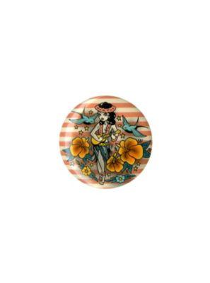 Hula Girl Tattoo Pin