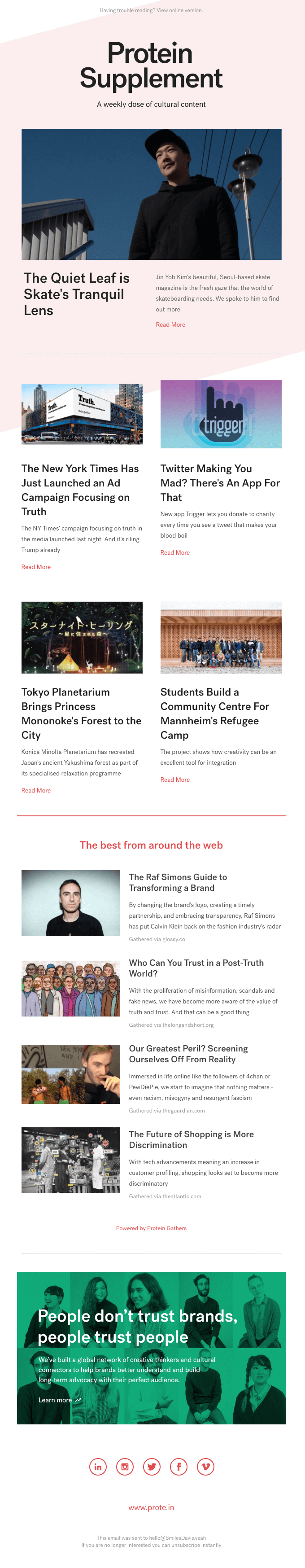 652 Discover Seoul S Skateboarding Scene With The Quiet Leaf A Tokyo Forest Planetarium Truth Campaign Email Newsletter Inspiration Email Newsletter Design