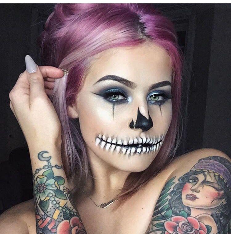 Skelton Halloween Makeup Cool halloween makeup