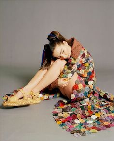Bjork. Photo: Paulo Sutch - 1993 - I love the granny crocheted coat. I'm going to make this by golly.