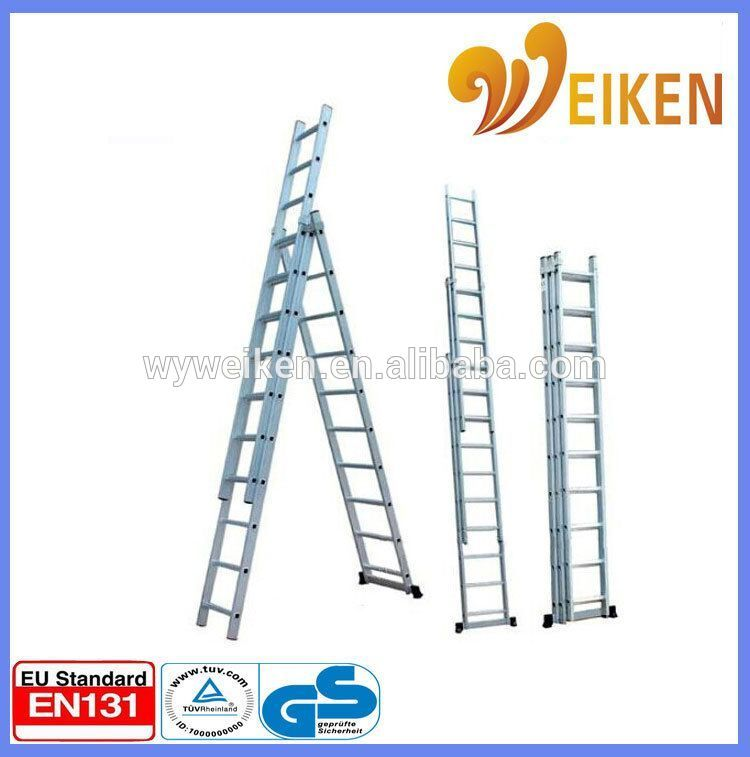 Compact Aluminum Folding Ladder Triple Extension 14 Foot Step Ladder With Images Folding Ladder Step Ladders Ladder