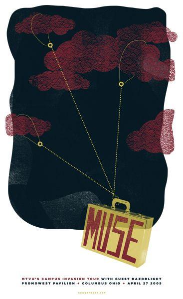 Muse gig poster  PromoWest Pavilion Columbus | Movie vs