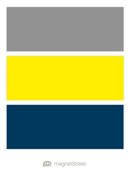 Classic Gray, Classic Yellow, and Navy Wedding Color Palette - custom color  palette created