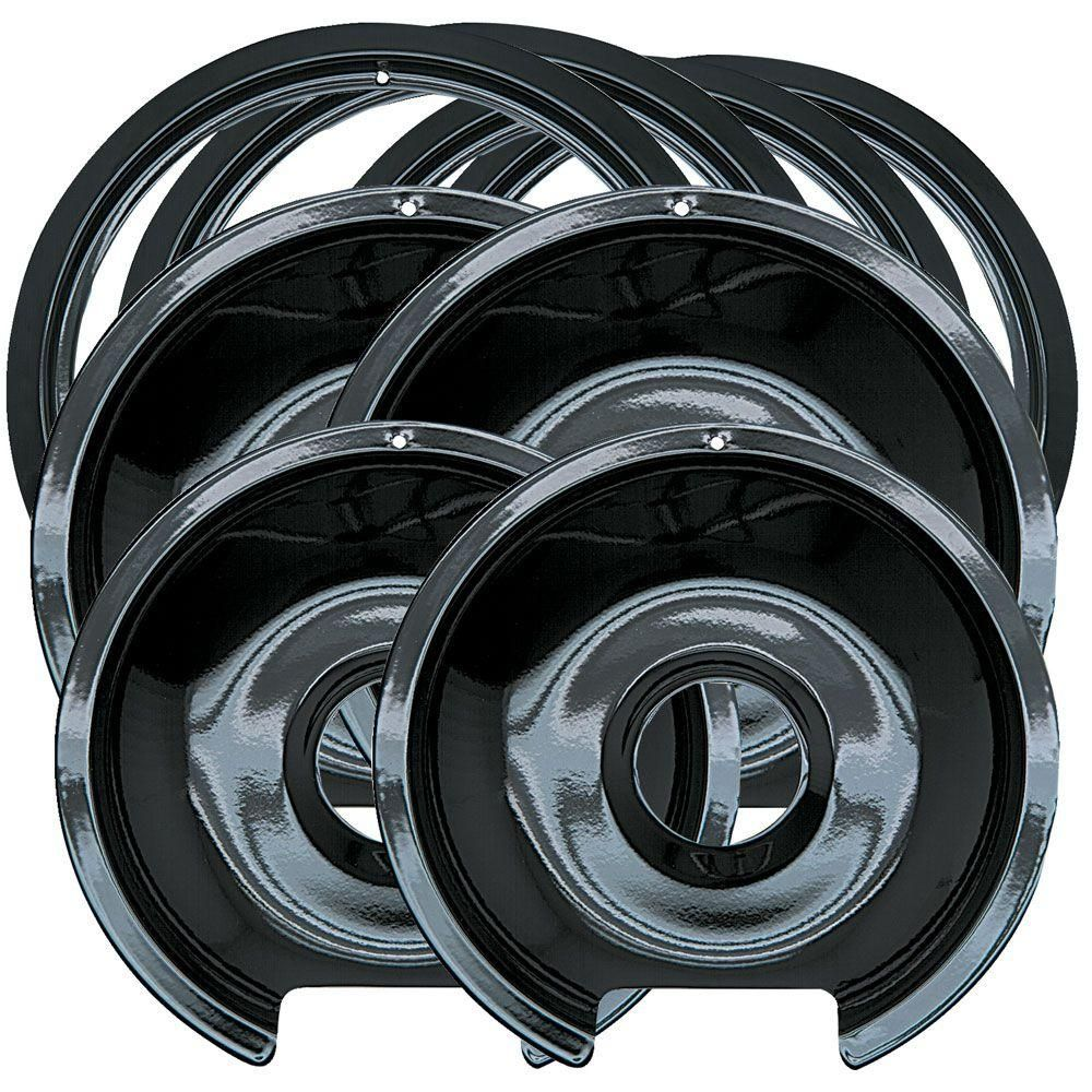 Range Kleen 6 In 2 Small And 8 In 2 Large Drip Pan And Trim Ring
