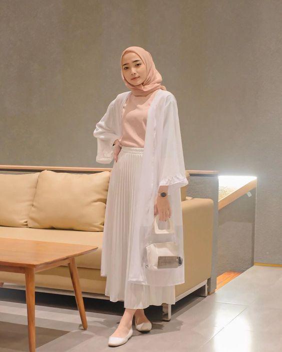 Style Baju Putih Hijab
