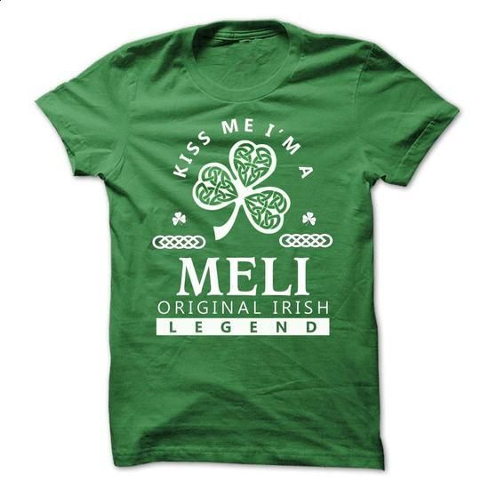 MELI - Kiss Me IM Team - #green shirt #mens sweater. ORDER NOW => https://www.sunfrog.com/Valentines/-MELI--Kiss-Me-IM-Team.html?68278