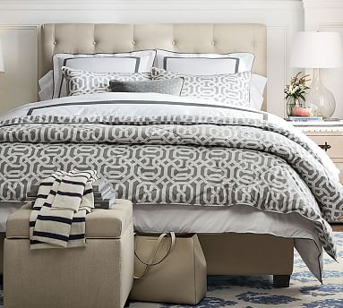 Overall W X L H Lorraine Tufted Low Bed Headboard