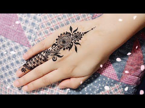 Diy Easy Mehendi Design For Fingers Tutorial 8 Henna Temporary Tattoo Youtube Mehndi Designs For Fingers Finger Tattoos Mehndi Designs For Hands