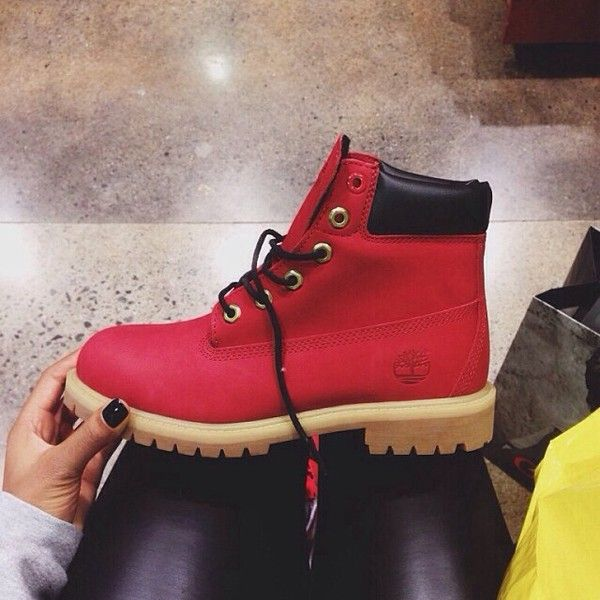 Clothes · womens red timberland boots
