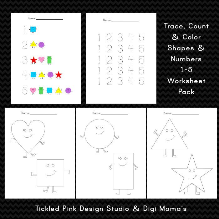 Digi-Mama\'s_Trace-Count-And-Color-Worksheet-Set-Freebie | Children\'s ...