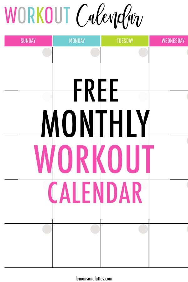 Printable Workout Calendar 2021 Workout Calendar Printable Workout Calendar Month Workout