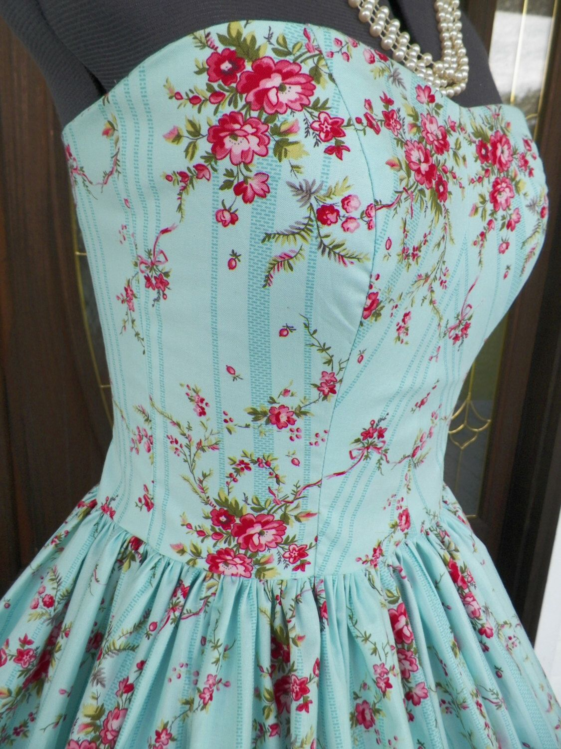 50s 60s vintage inspired wedding bridal prom party formal bridesmaid ...
