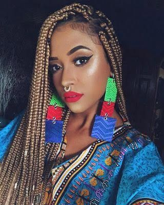 100 African Braids Hairstyle Pictures to Inspire You #crotchetbraids Faux Lock Braid #crotchetbraids 100 African Braids Hairstyle Pictures to Inspire You #crotchetbraids Faux Lock Braid # fulani Braids no extensions # fulani Braids with curls