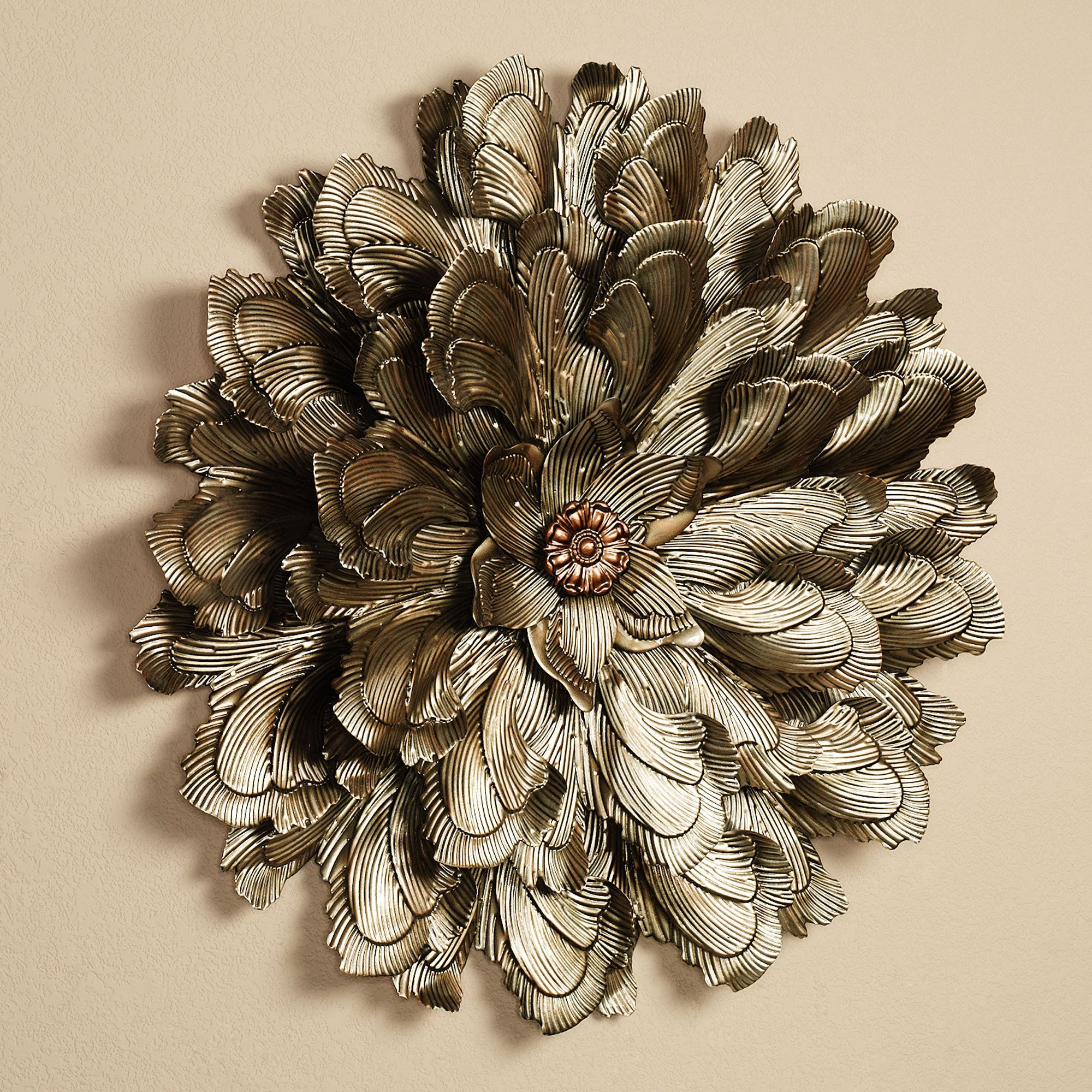 Metal Flower Wall Art delicate flower blossom metal wall sculpture | sculpture, floral