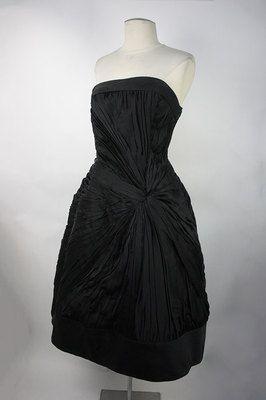 Helena Barbieri Vintage 1950's Black Balloon Dress w Pannier Underskirt   eBay