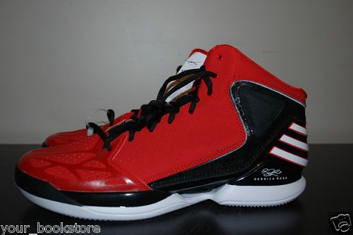 best service ab5cc fe746 New Adidas Derrick Rose 773 NBA BlackRed Basketball Shoes Mens Size 11.5