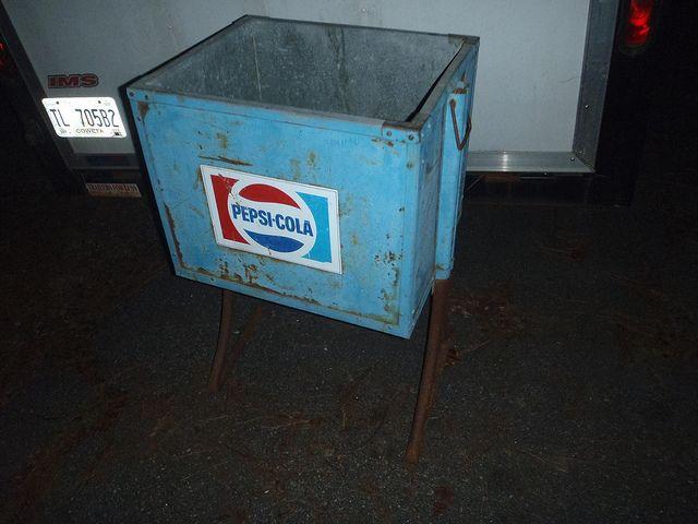 Vintage Pepsi Ice Chest Cooler W Legs Ice Chest Cooler Pepsi Ice Chest