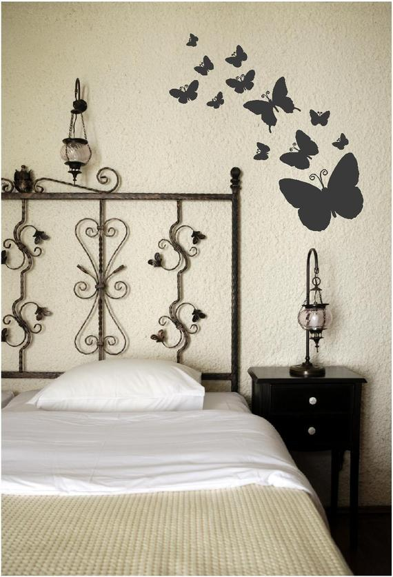 butterflies in bedroom wall art nature graphic in 2019