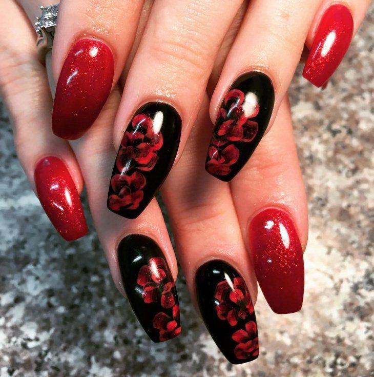 Styles Of Black Nail Art Designs 2017 Style You 7 Red Nail Designs Black Nail Designs Acrylic Nail Designs
