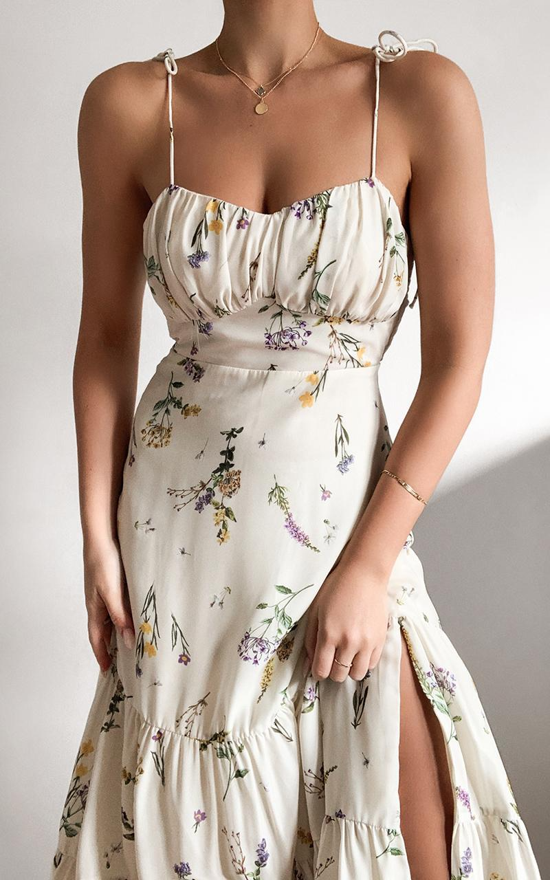 Monaco Dress in botanical floral | Showpo