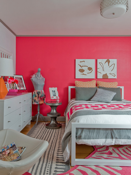 Bright Pink And Cool White Make The Perfect Combination For A Little S Room