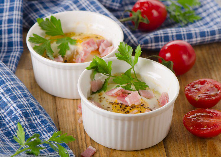 Oeuf cocotte au bacon