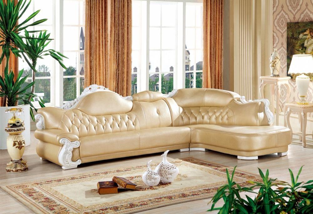 American Leather Sofa Set Living Room Sofa China L Shape Corner Sofa Wooden Frame Sofa Corner Sofa Wooden Furniture