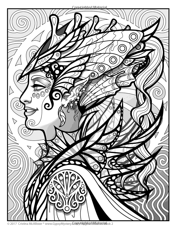 amazoncom magical beauties coloring book book 2 volume 2 - Adult Coloring Books 2