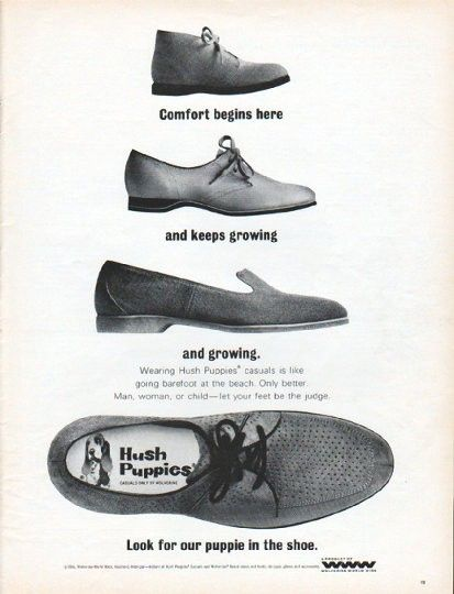 1966 Hush Puppies Vintage Ad Comfort Begins Here Shoes Ads Hush Puppies Camp Socks