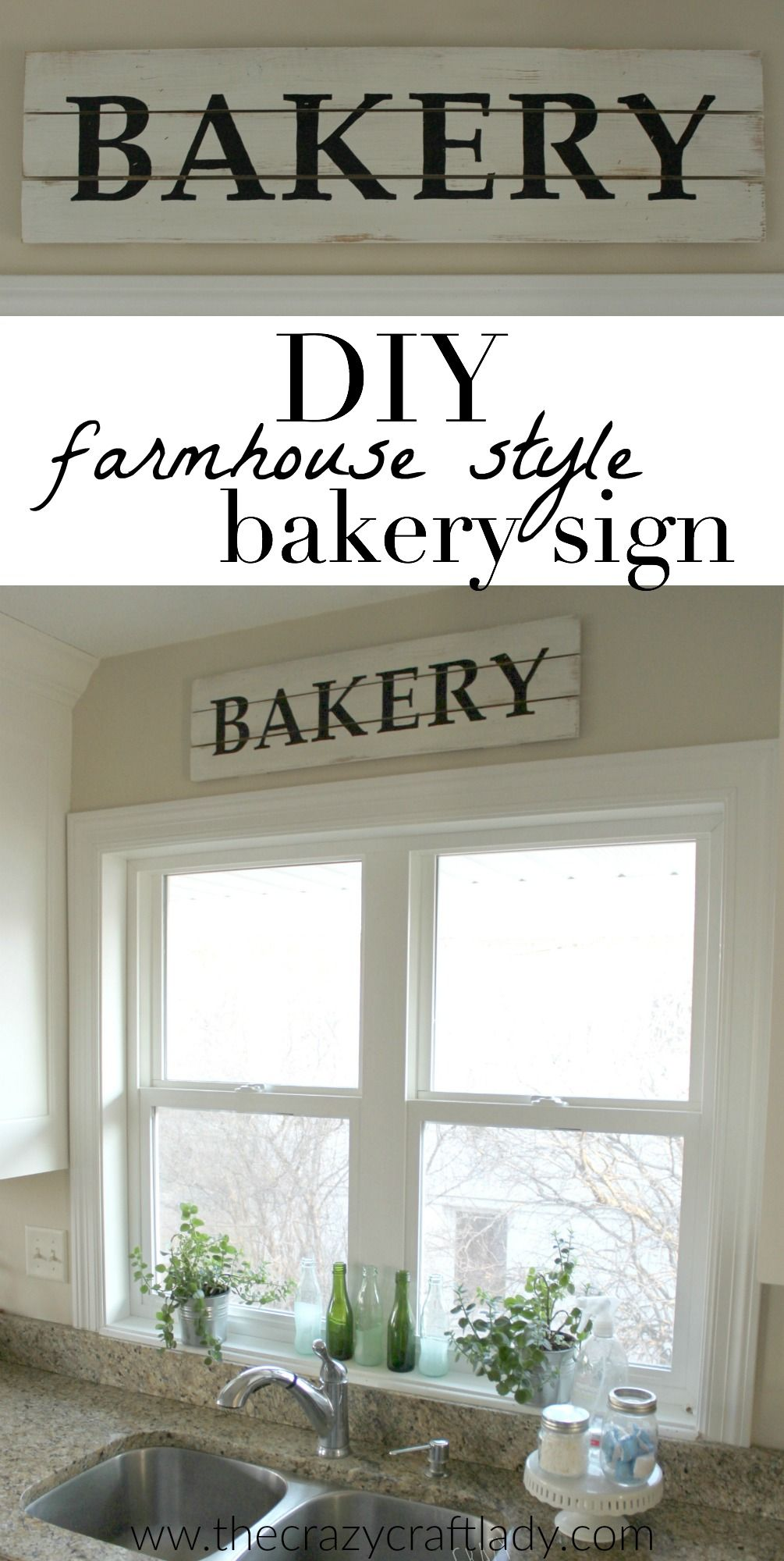 DIY Farmhouse Style Bakery Kitchen Sign Farmhouse style