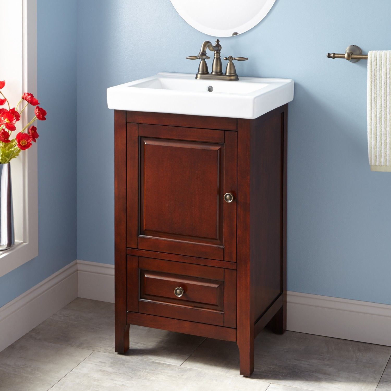 20 Owens Vanity Walnut 20 Inch Bathroom Vanity Bathroom Vanity Small Bathroom Vanities