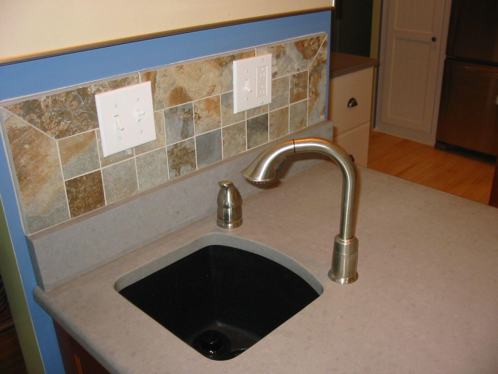 Granite composite prep sink in a Quartz top. | Custom ...