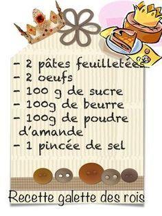 recette galette et couronne