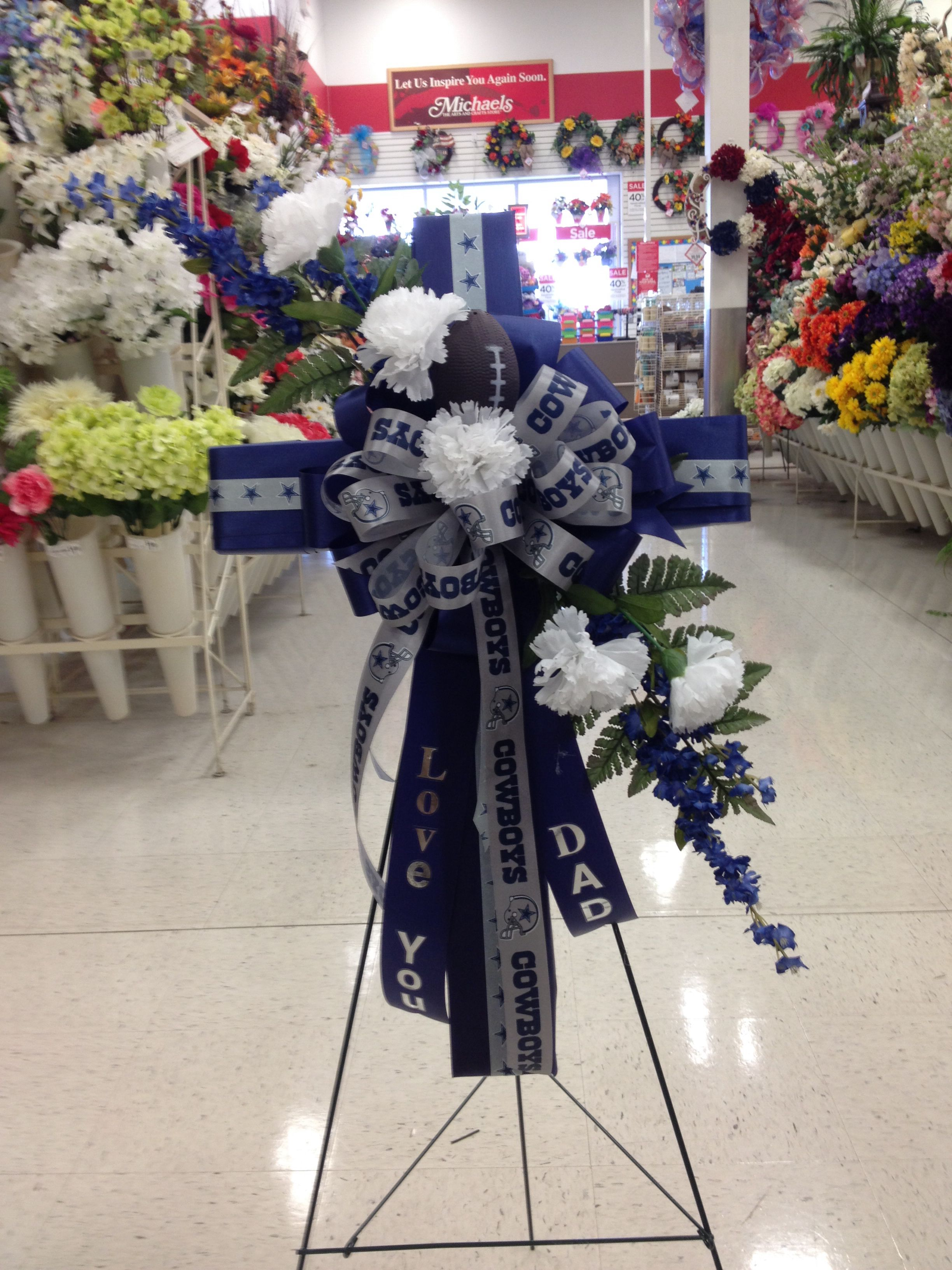 Dallas Cowboys Cross For Fathers Day My Florals Michaels Store