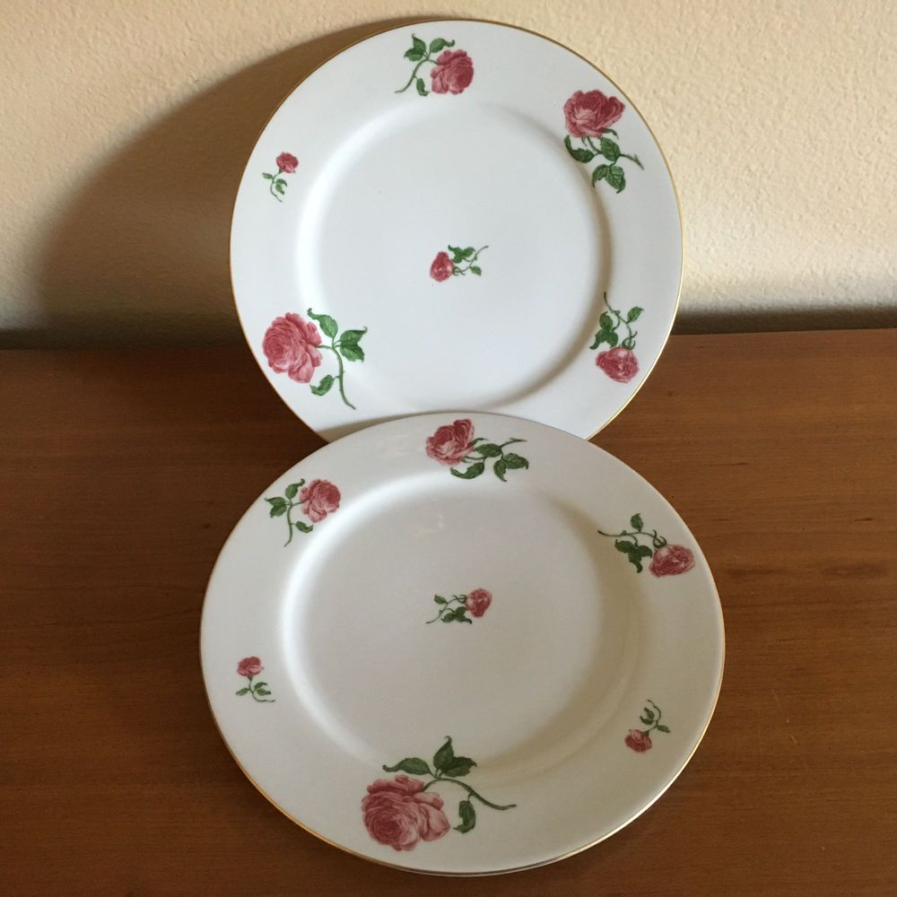 & Two Ralph Lauren Daphne Dinner Plates EUC Made in Portugal