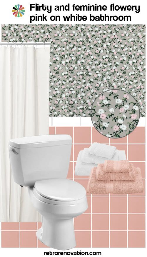 Pink And White Bathroom