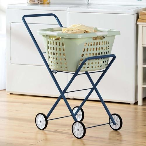No More Struggling To Carry That Laundry Basket Wheel It There